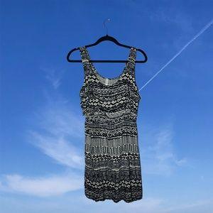 Xhilaration Dresses - ☆ Black & white patterned dress ☆